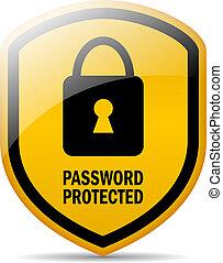 parola accesso, protetto