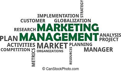 parola, amministrazione,  -, nuvola,  marketing