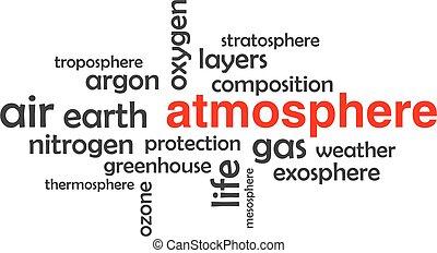 parola, atmosfera, -, nuvola