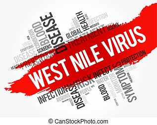 parola, collage, ovest, nilo, virus, nuvola