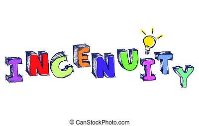 parola, colorito, ingegnosità, luce, sketchy, bulbo