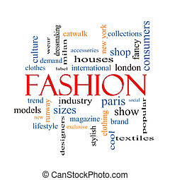 parola, concetto, moda, nuvola