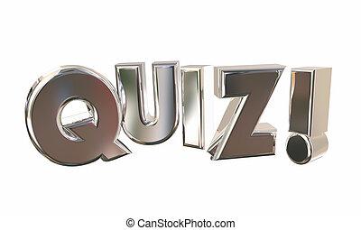 parola, concorso, illustrazione, quiz, gioco, domande, prova, sorpresa, 3d