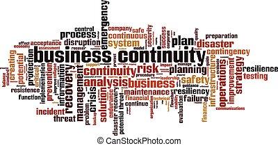 parola, continuità, affari, nuvola