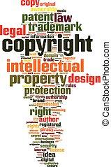 parola, copyright, nuvola