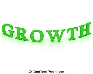 parola, crescita, verde, segno
