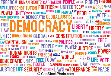 parola, democrazia, nuvola