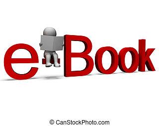 parola, ebook, biblioteca elettronica, mostra