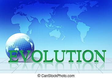 parola, evoluzione, concetto, -, affari
