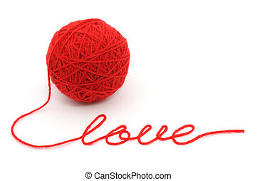 parola, filo, palla, 'love'