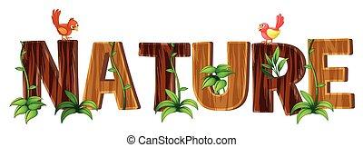 parola, font, disegno, natura