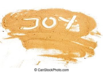 parola, gioia, scritto, giallo, sabbia, mucchio