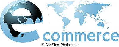 parola, globale, internet, terra, mondo, ecommerce