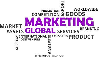parola, globale, -, nuvola, marketing