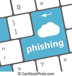 parola, intimità, phishing, tastiera computer, concept: