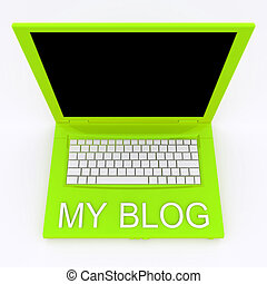 parola, laptop, esso, blog, computer, mio