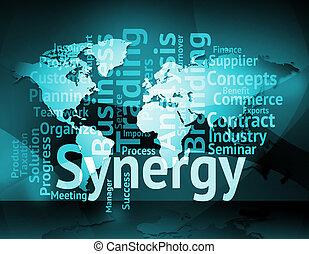 parola, lavorare insieme, sinergia, significato, socio