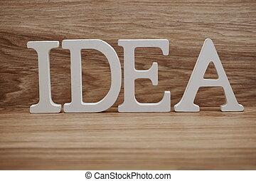 parola, legno, alfabeto, idea, fondo, lettere