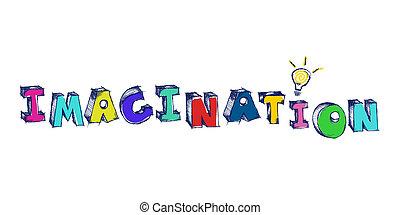 parola, luce colorita, immaginazione, sketchy, bulbo