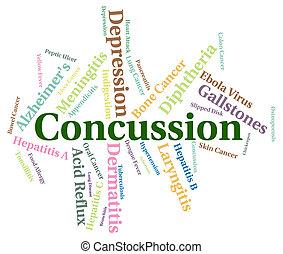 parola, malattia, mezzi, commozione cerebrale, salute,...