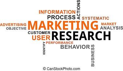 parola, marketing, -, nuvola, ricerca