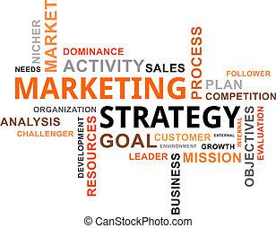 parola, marketing, -, nuvola, strategia