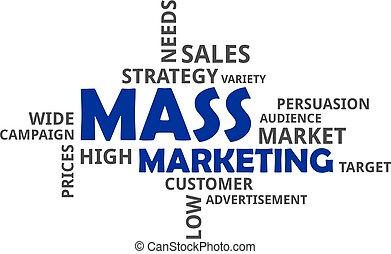 parola, -, massa, nuvola, marketing