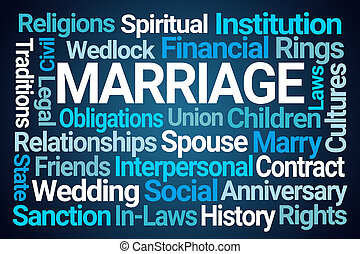 parola, matrimonio, nuvola