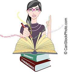 parola, meanings, illustrazione, translations
