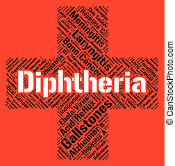 parola, mezzi, corynebacterium, diphtheria, afflizione,...