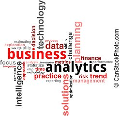parola, -, nuvola, affari, analytics