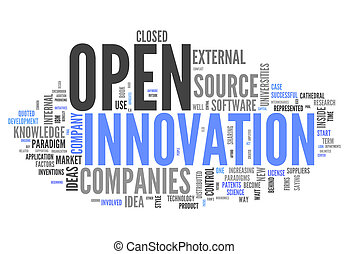 parola, nuvola, aperto, innovazione