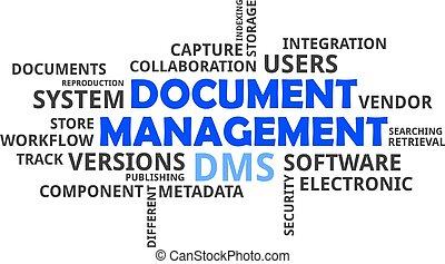 parola, nuvola, -, documento, amministrazione
