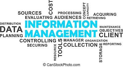 parola, nuvola, -, gestione informazioni