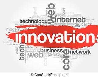 parola, nuvola, innovazione