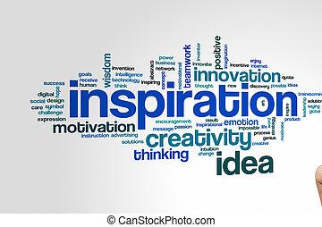 parola, nuvola, ispirazione