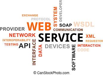 parola, -, nuvola, servizio, web