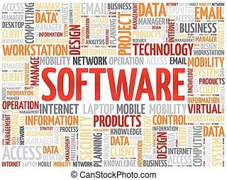 parola, nuvola, software
