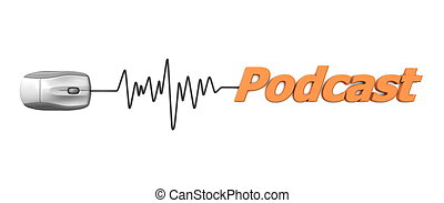 parola, podcast, topo, grigio