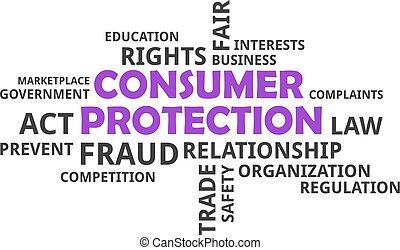 parola, protezione, -, consumatore, nuvola