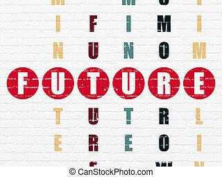 parola, puzzle, risolvere, cruciverba, futuro, tempo, concept: