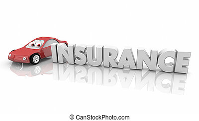 parola, render, automobile, automobile, illustrazione, assicurato, veicolo, assicurazione, 3d