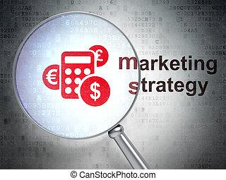 parola, render, marketing, calcolatore, strategia, vetro, ...