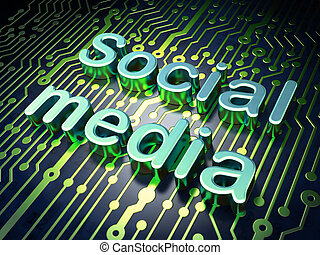 parola, rete, render, media, asse, circuito, sociale, concept:, 3d