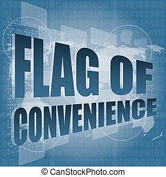 parola, schermo, convenienza, illustrazione, bandiera, vettore, digitale, tocco