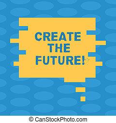 parola, scrittura, testo, creare, il, future., concetto affari, per, lavoro, really, duro, a, ottenere, tuo, fare un sogno, fare, venire, vero, vuoto, colorare, bolla discorso, in, pezzo enigma, forma, foto, per, presentazione, ads.