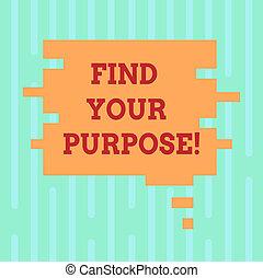 parola, scrittura, testo, trovare, tuo, purpose., concetto affari, per, vita, mete, carriera, ricerca, istruire, intelligente, possibilità, vuoto, colorare, bolla discorso, in, pezzo enigma, forma, foto, per, presentazione, ads.