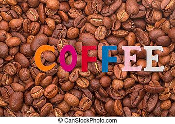 parola, singolo, -, caffè