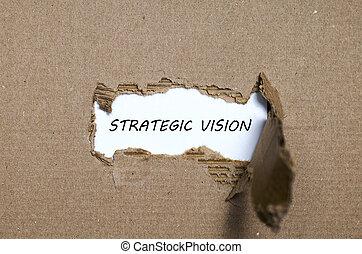 parola, strappato, strategico, Dietro, carta, apparire, visione