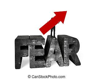 parola, tenere, chiazzato, concreto, freccia, paura, uomo,...
